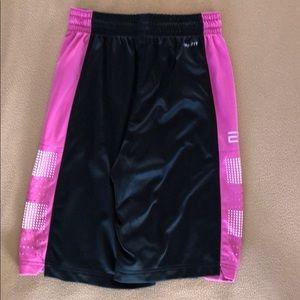 Nike Shorts - Men's Pink Nike Elite Basketball Shorts (Small)